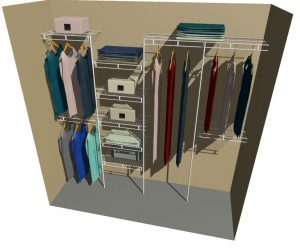 Neptune Ventilated Wire Wardrobe Organiser
