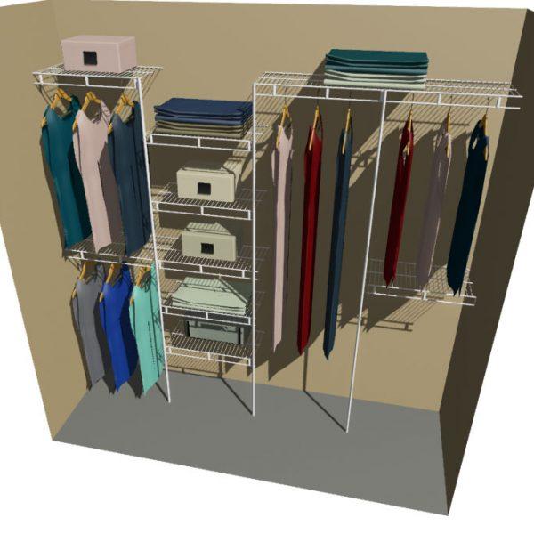 Neptune Ventilated Wire Wardrobe Organiser