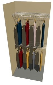 Double Hanging Ventilated Wire Wardrobe Shelf