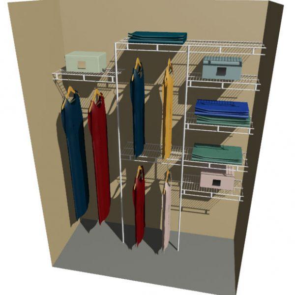 Mercury Ventilated Wire Wardrobe Design