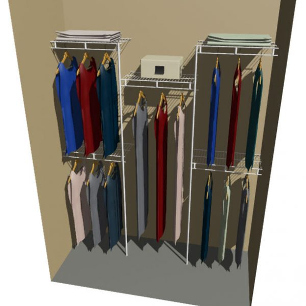 Pluto Ventilated Wire Wardrobe System
