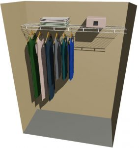 Single Ventilated Wire Wardrobe Shelf