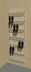 21 Pair Wire Shoe Rack