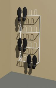 8 Pair Wire Shoe Rack