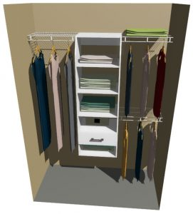 Alaska Melteca & Ventilated Wire Wardrobe Design