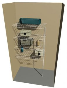Garage Cupboard Ventilated Wire Organiser System