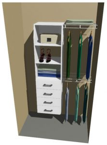 Gore Melteca & Ventilated Wire Wardrobe Design