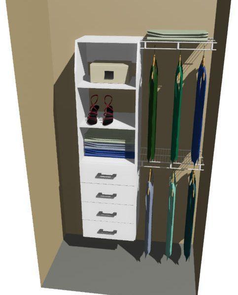 Gore Melteca & Ventilated Wire Wardrobe Design