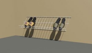 Horizontal Ventialted Wire Shoe Rack