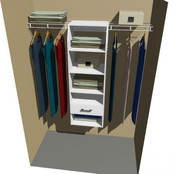 Miami Melteca & Ventilated Wire Wardrobe Design