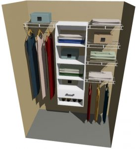 Nevada Melteca & Ventilated Wire Wardrobe Design