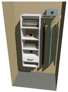 New York Melteca & Ventilated Wire Wardrobe Design