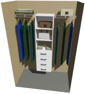 Otago Melteca & Ventilated Wire Wardrobe Design