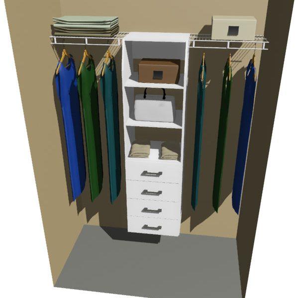 Otago Melteca & Ventilated Wire Wardrobe Design