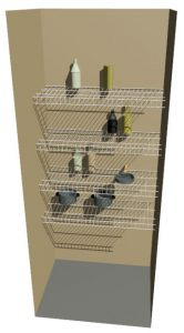 Close Mesh Ventilated Wire Shelving