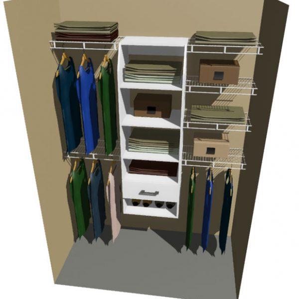 Texas Melteca & Ventilated Wire Wardrobe Design