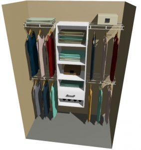 Utah Melteca & Ventilated Wire Wardrobe Design