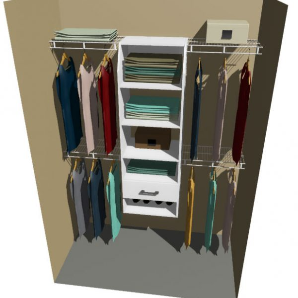 Utah Melteca & Ventilated Wire Wardrobe Design