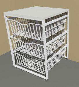 3 Drawer Basket Set