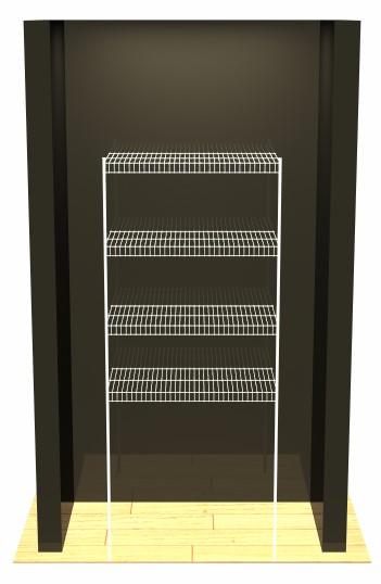Freestanding Linen - 4 Shelves - 2 Poles