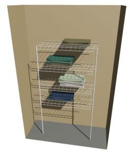 Freestanding Linen – 4 Shelves