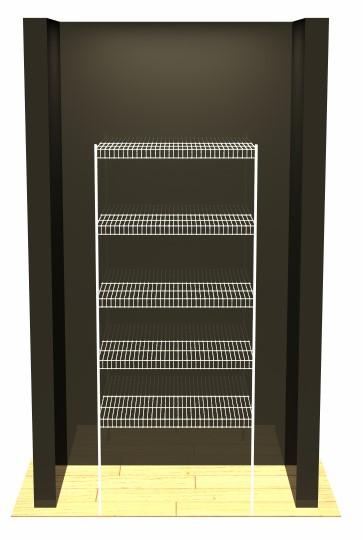 Freestanding Linen - 5 Shelves - 2 Poles