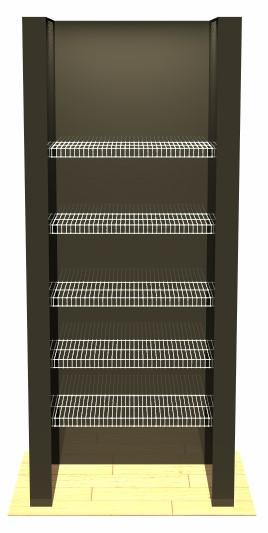 Linen - 5 Shelves - No Pole